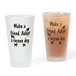 Adopt A Rescue Drinking Glass