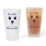 Help Us Smile Drinking Glass