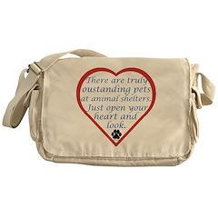 Open Your Heart Messenger Bag