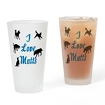I Love Mutts Drinking Glass