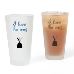 Love the Wag Drinking Glass