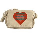 I Share My Heart Messenger Bag