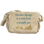 Best Therapy Is A Visit Messenger Bag