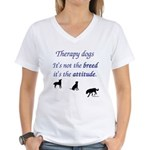 Best Therapy Breed Women's V-Neck T-Shirt