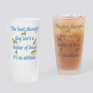 Best Therapy Dog Drinking Glass