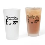 I'd Rather Be Driving Sheep Drinking Glass