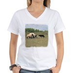 Dog Meets Sheep Women's V-Neck T-Shirt