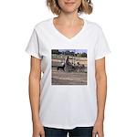 Herding Dog Art Women's V-Neck T-Shirt