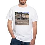 Herding Dog Art White T-Shirt