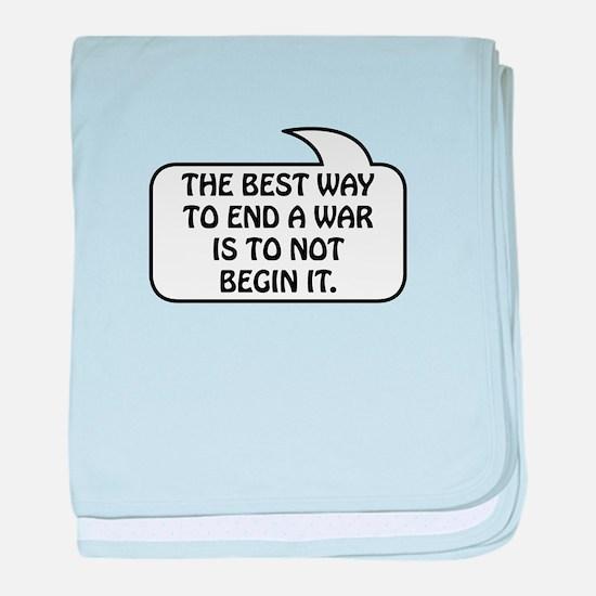 Anti War Bubble 1 baby blanket