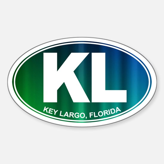 Key Largo FL - Sticker (Oval)