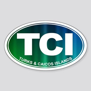 Turks and Caicos Islands - Sticker (Oval)