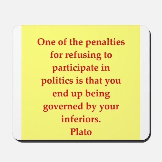 Wisdom of Plato Mousepad
