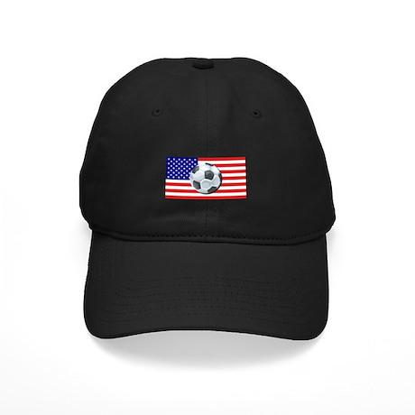 American Soccer Black Cap