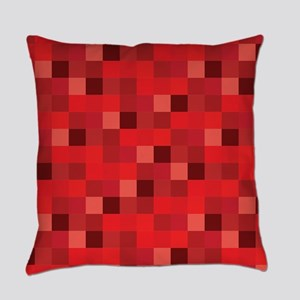 Red Pixelated Pattern | Gamer Everyday Pillow