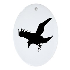 Black Crow Ornament (Oval)
