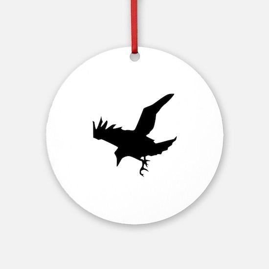 Black Crow Ornament (Round)