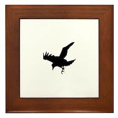 Black Crow Framed Tile