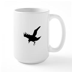Black Crow Large Mug
