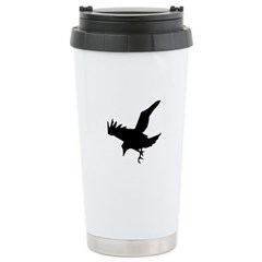 Black Crow Stainless Steel Travel Mug