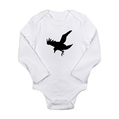 Black Crow Long Sleeve Infant Bodysuit