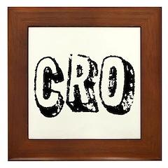 """""""CRO"""" Framed Tile"""