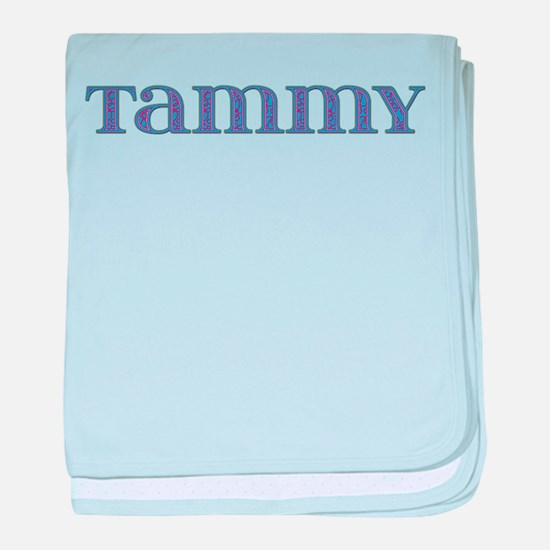 Tammy Blue Glass baby blanket
