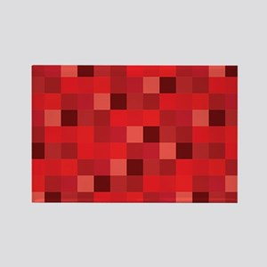 Red Pixelated Pattern | Gamer Magnets