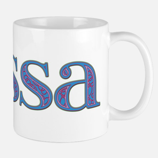 Tessa Blue Glass Mug