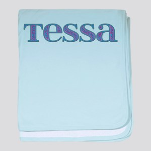Tessa Blue Glass baby blanket