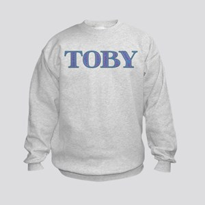 Toby Blue Glass Kids Sweatshirt