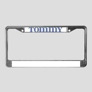 Tommy Blue Glass License Plate Frame