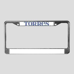 Torres Blue Glass License Plate Frame