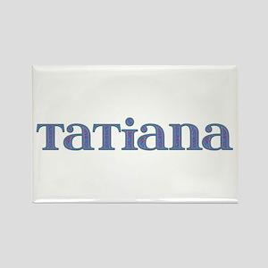 Tatiana Blue Glass Rectangle Magnet