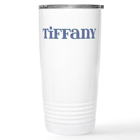 Tiffany Blue Glass Stainless Steel Travel Mug