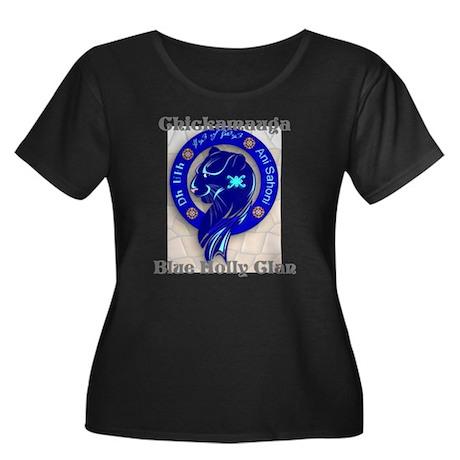 Blue Holly Clan Women's Plus Size Scoop Neck Dark