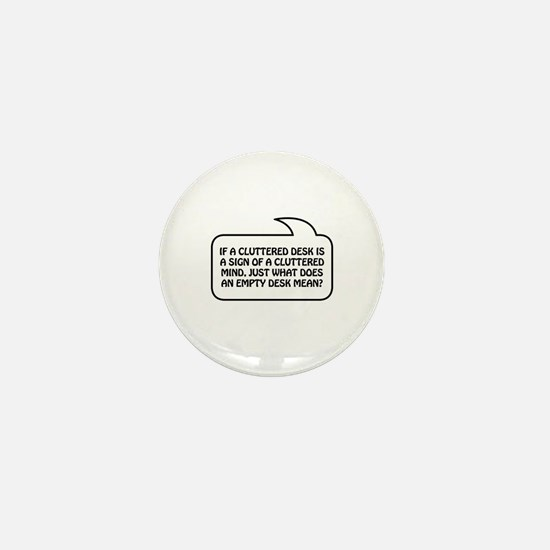 Cluttered Bubble 1 Mini Button (10 pack)