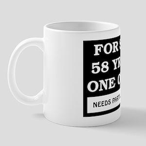 For Sale 58 Year Old Birthday Mug
