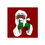 African Santa Clause Christmas Sticker