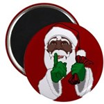 African Santa Clause Christmas Magnets