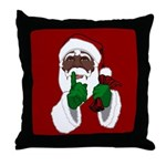 African Santa Clause Christmas Throw Pillow