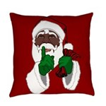 African Santa Clause Christmas Everyday Pillow