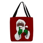 African Santa Clause Christmas Polyester Tote Bag