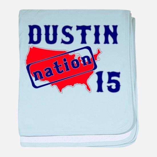 Dustin Nation 15 baby blanket