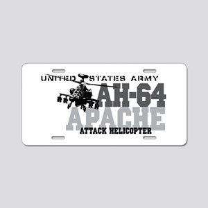 Army Apache Helicopter Aluminum License Plate