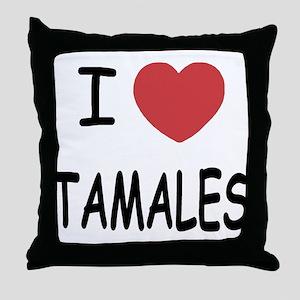I heart tamales Throw Pillow