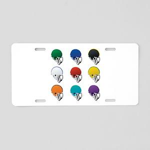 Football Helmets Aluminum License Plate