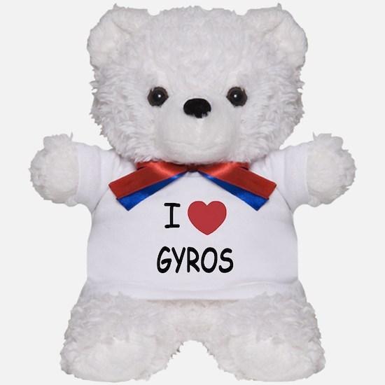 I heart gyros Teddy Bear