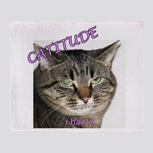 Catitude Throw Blanket