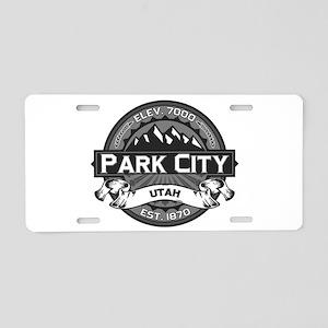 Park City Grey Aluminum License Plate
